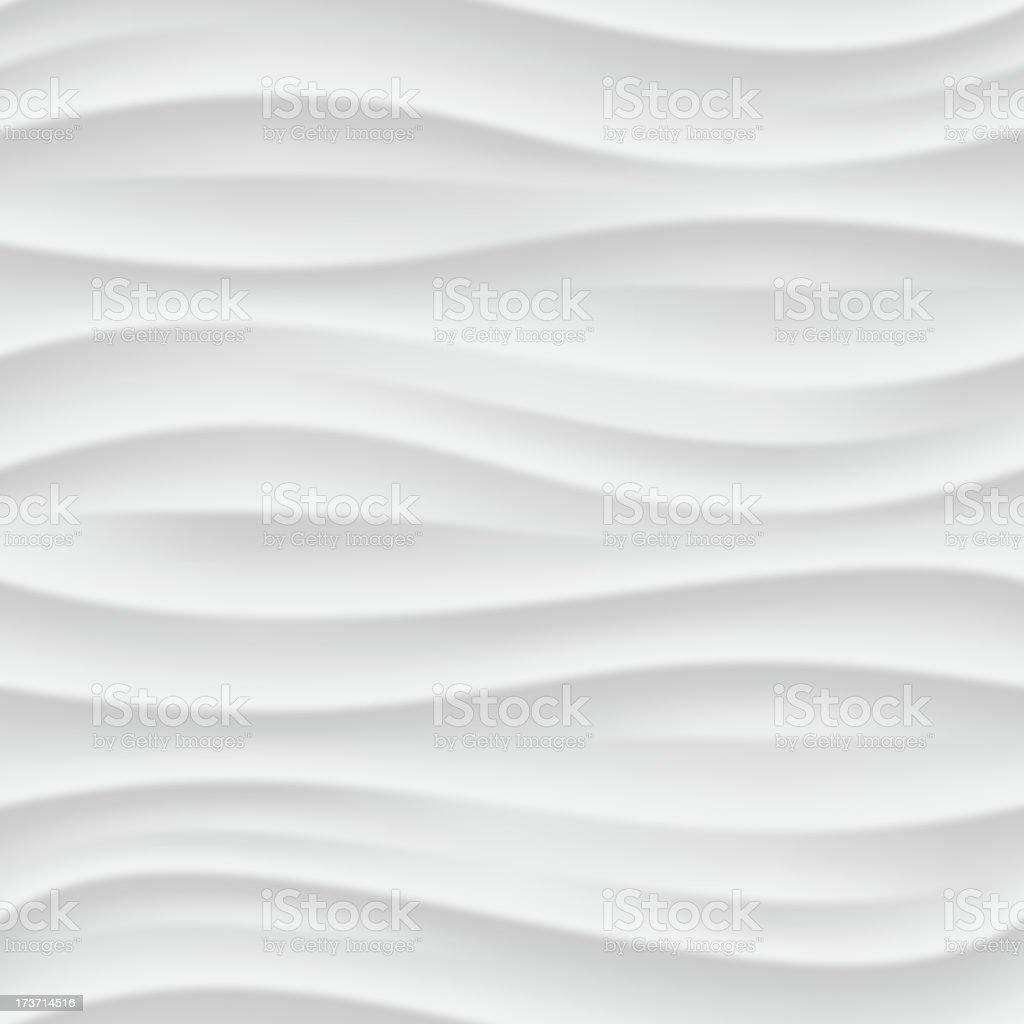 White wavy seamless texture. vector art illustration