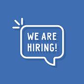 istock white we re hiring thin line bubble 1276799584