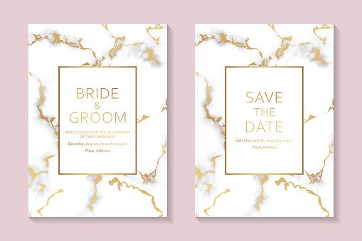 White wedding invitation or gretting card templates.