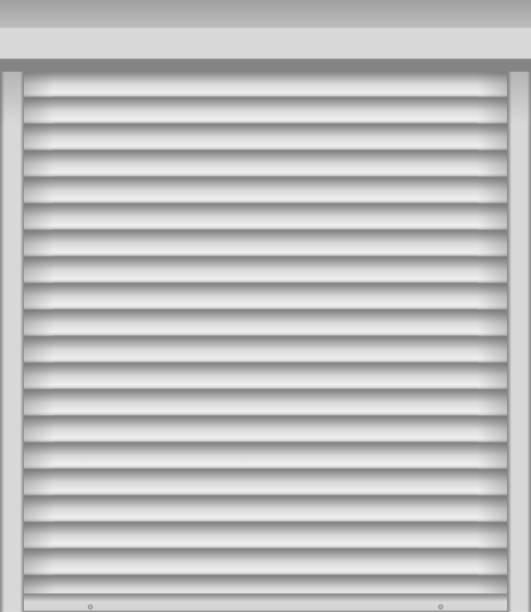 ilustrações de stock, clip art, desenhos animados e ícones de white window shutter or blind - com portada
