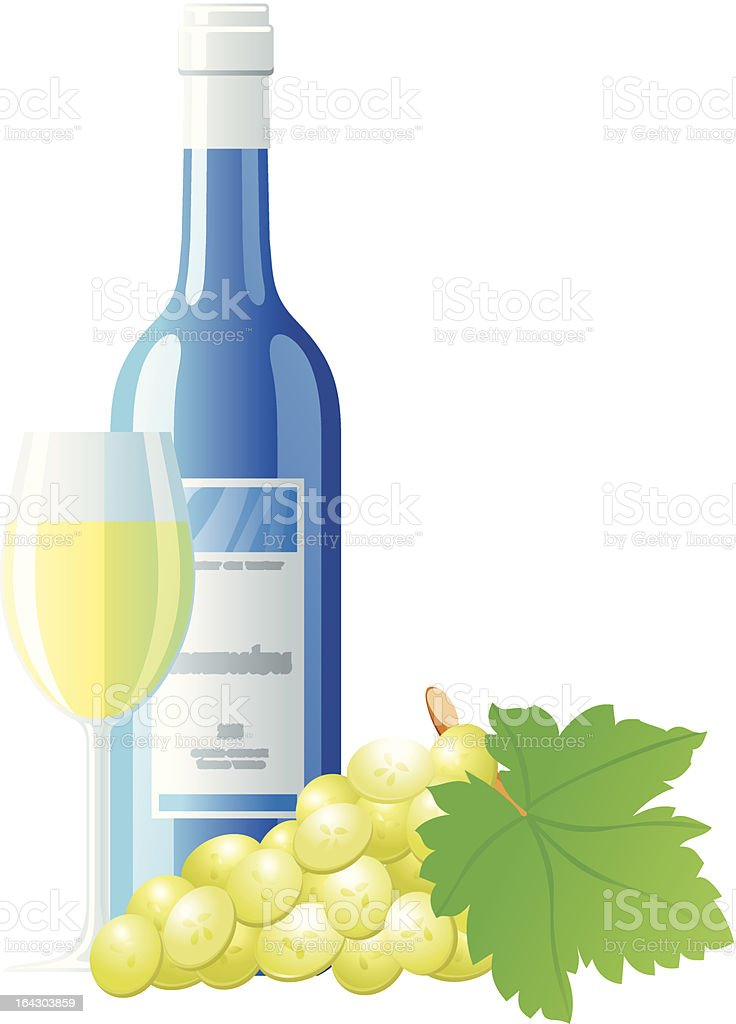 White wine and grape royalty-free stock vector art