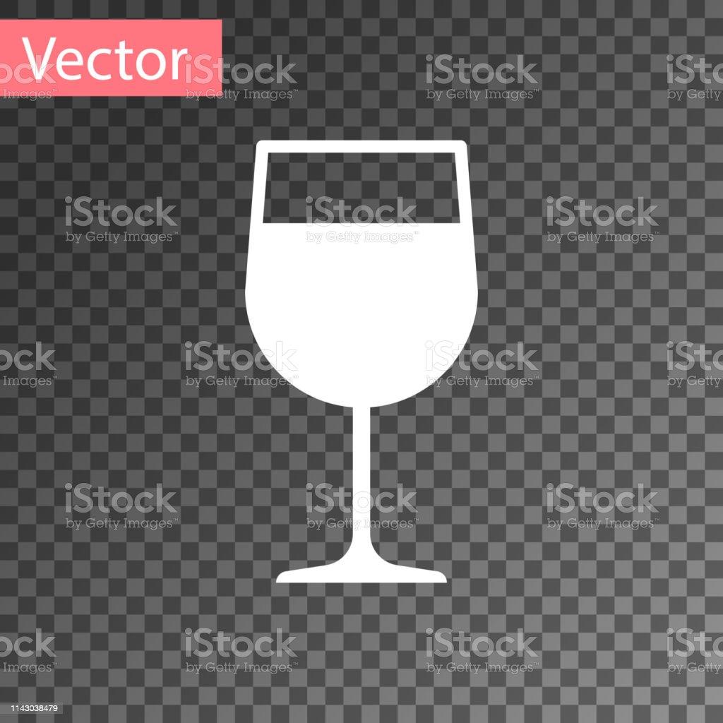 Icône En Verre De Vin Blanc Isolé Sur Fond Transparent Icône De Verre À Vin Symbole De Gobelet Signe De Verrerie Illustration Vectorielle Vecteurs