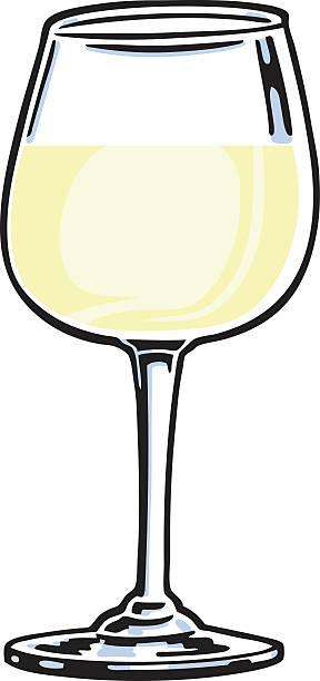 bildbanksillustrationer, clip art samt tecknat material och ikoner med white wine glass - vitt vin glas