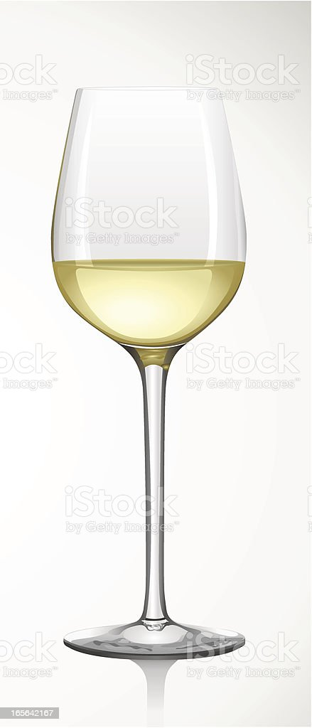 White Wine Glass -  Weißweinglas royalty-free stock vector art