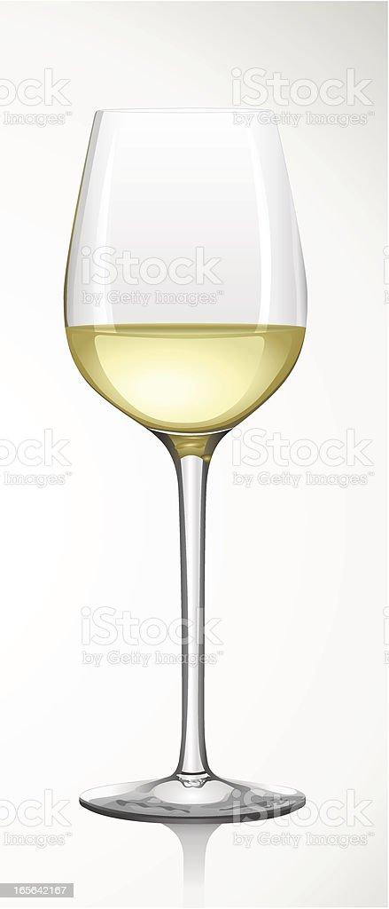White Wine Glass -  Weißweinglas vector art illustration