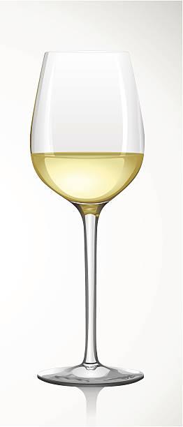 bildbanksillustrationer, clip art samt tecknat material och ikoner med white wine glass -  weißweinglas - vitt vin glas