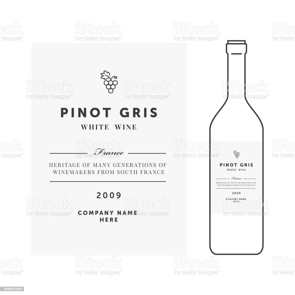 étiquette De Vin Blanc Modèle De Vecteur De Prime Design
