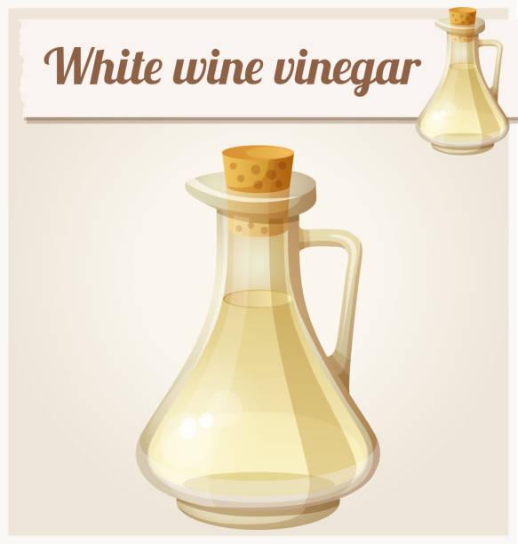 weißwein-essig. detaillierte vektor icon - dressing stock-grafiken, -clipart, -cartoons und -symbole