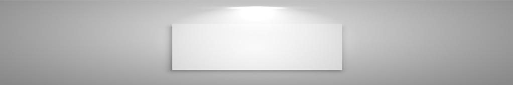 Blanco con fondo de estudio panorámico gris con brillo blanco