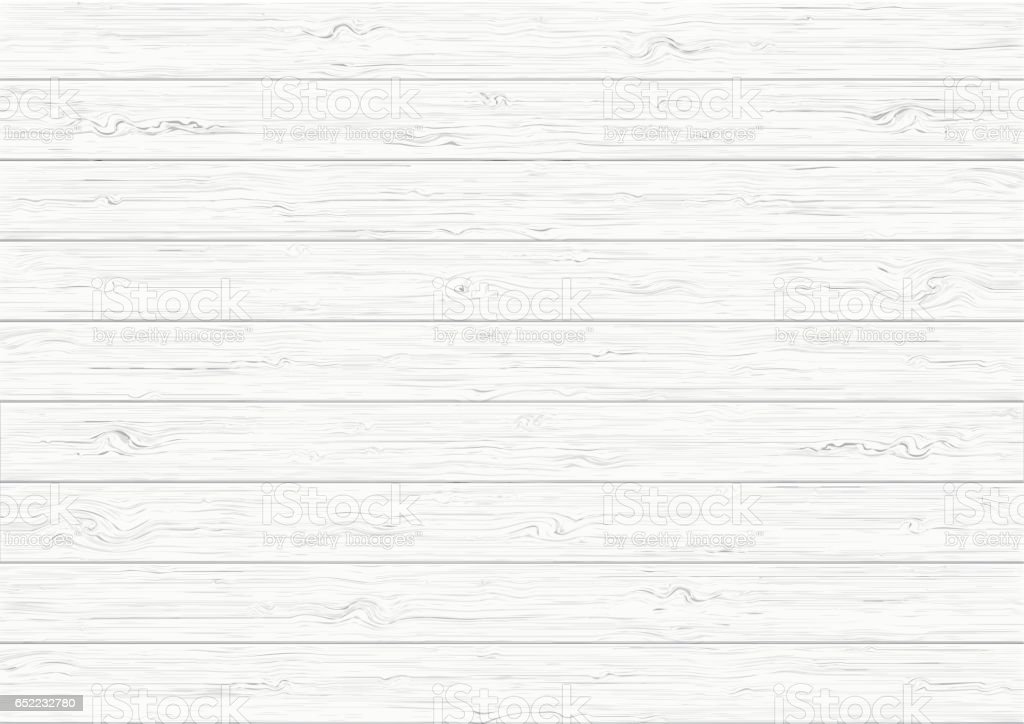 White wood plank texture background vector art illustration