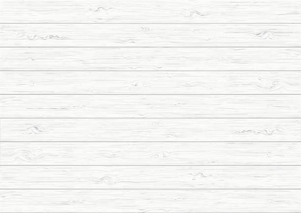 white wood plank texture background - wood texture stock illustrations