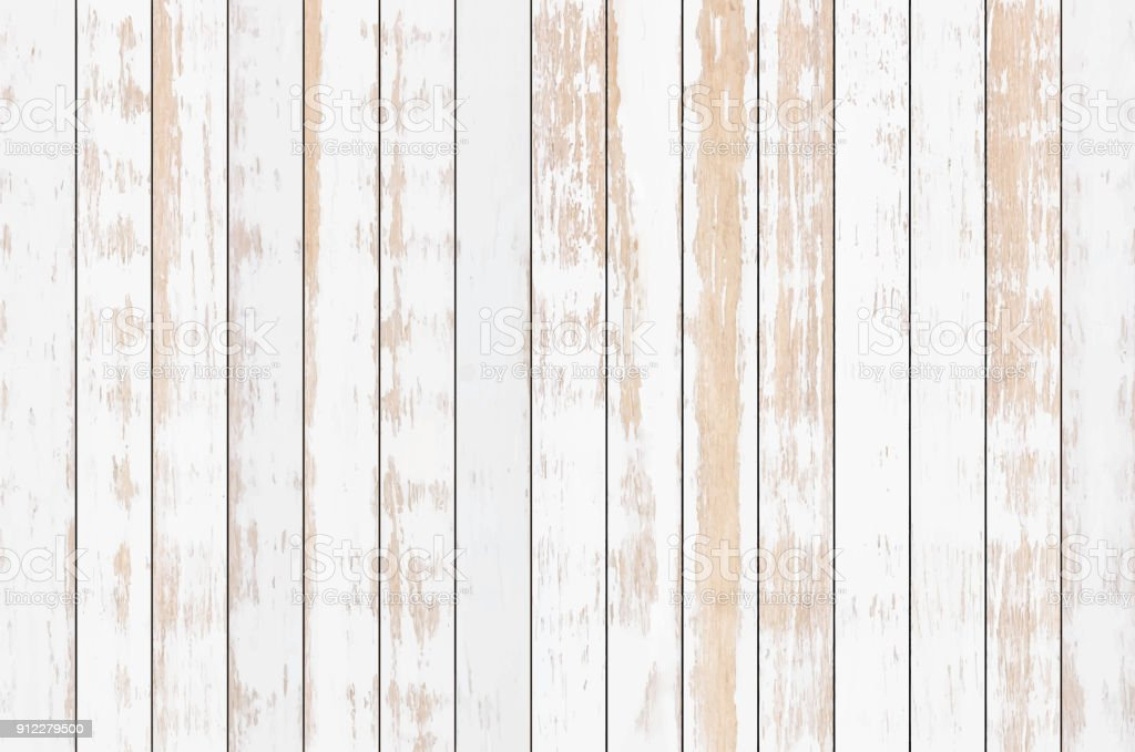 White wood plank texture background, vector vector art illustration