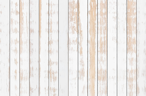 White Wood Plank Texture Background Vector Stock Illustration - Download Image Now