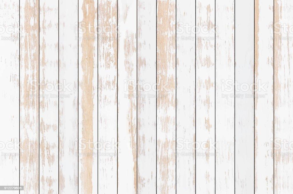 White wood plank texture background, vector vector art illustration