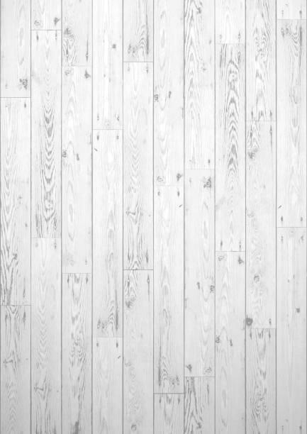 White wooden boards grunge background vector art illustration