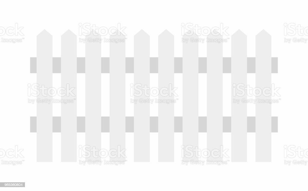 白色木柵欄 - 免版稅厚板圖庫向量圖形