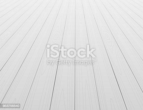 istock White wooden floor background in perspective 953256540