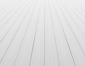 White wooden floor background in perspective. Vector illustration