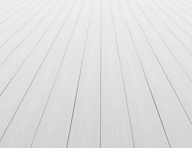 white wooden floor background in perspective - angle stock illustrations