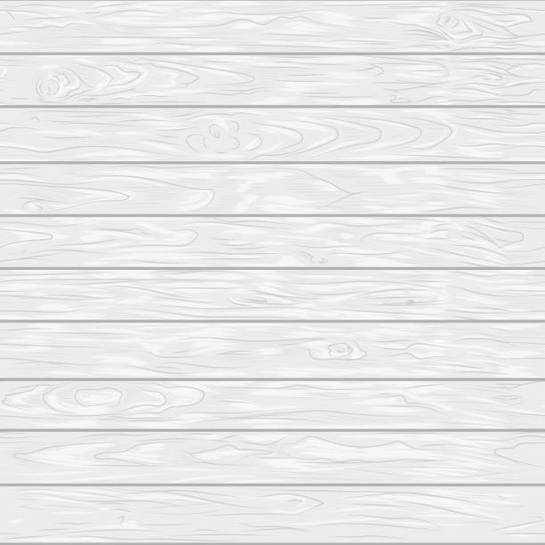 White wooden planks seamless pattern. Horizontal lines wooden floor painted white. bois stock illustrations