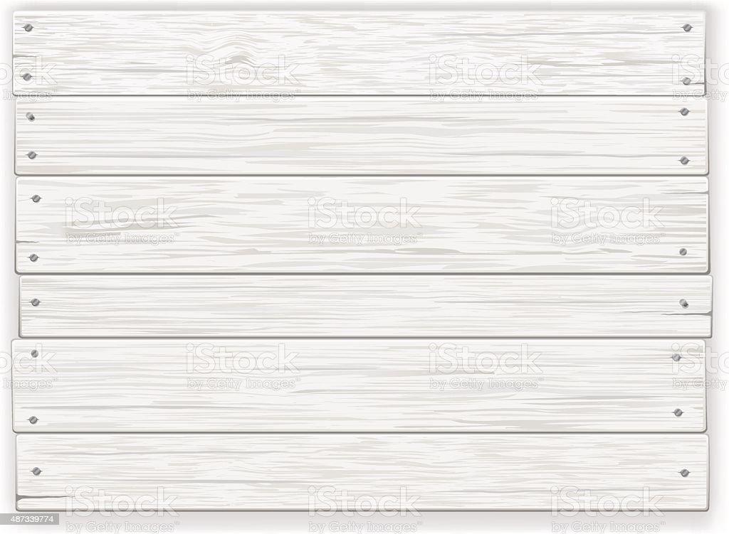 Panneau en bois blanc - Illustration vectorielle