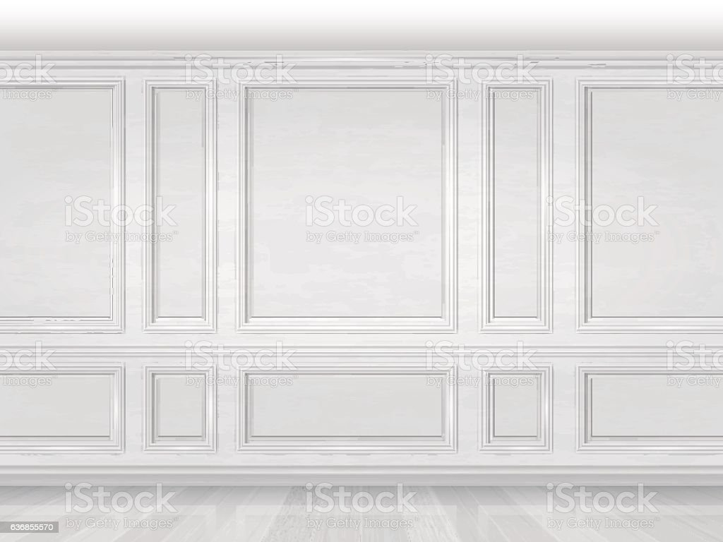 White Wooden Wall Panel Stock Vector Art & More Images Of