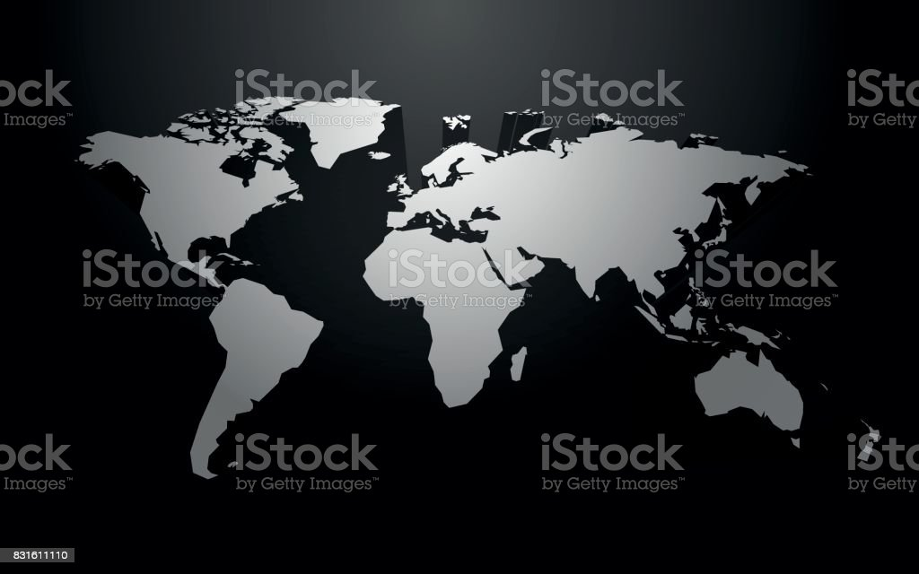 White world map blank vector with 3d shadow stock vector art white world map blank vector with 3d shadow royalty free stock vector art publicscrutiny Image collections