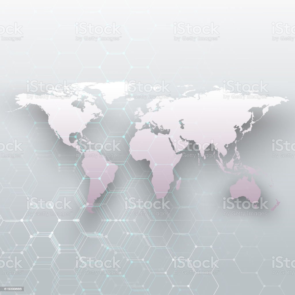 White world map connecting lines and dots on gray color stock vector white world map connecting lines and dots on gray color royalty free white world gumiabroncs Choice Image