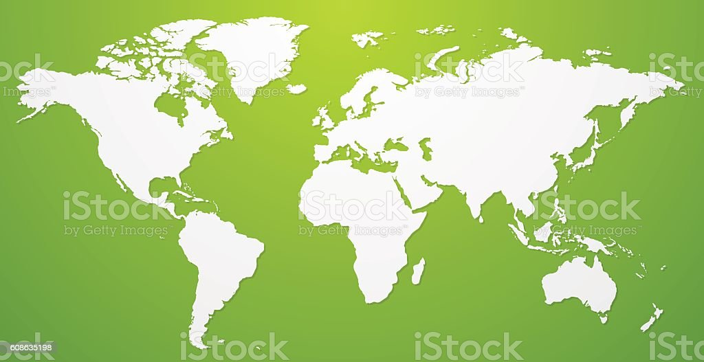 White world map illustration on green background vector template white world map illustration on green background vector template white world map illustration on green gumiabroncs Images