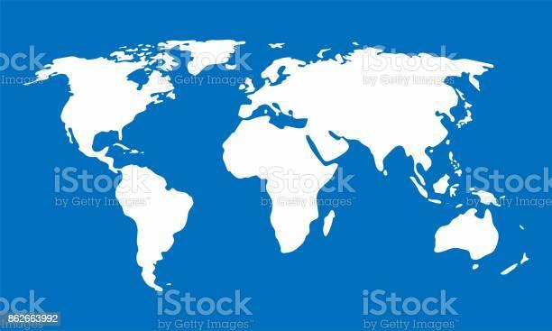 White world map on blue background vector illustration vector id862663992?b=1&k=6&m=862663992&s=612x612&h=yuxczgnbate5gvnoks9rhwtfzsydp j1ymhryb05yfw=