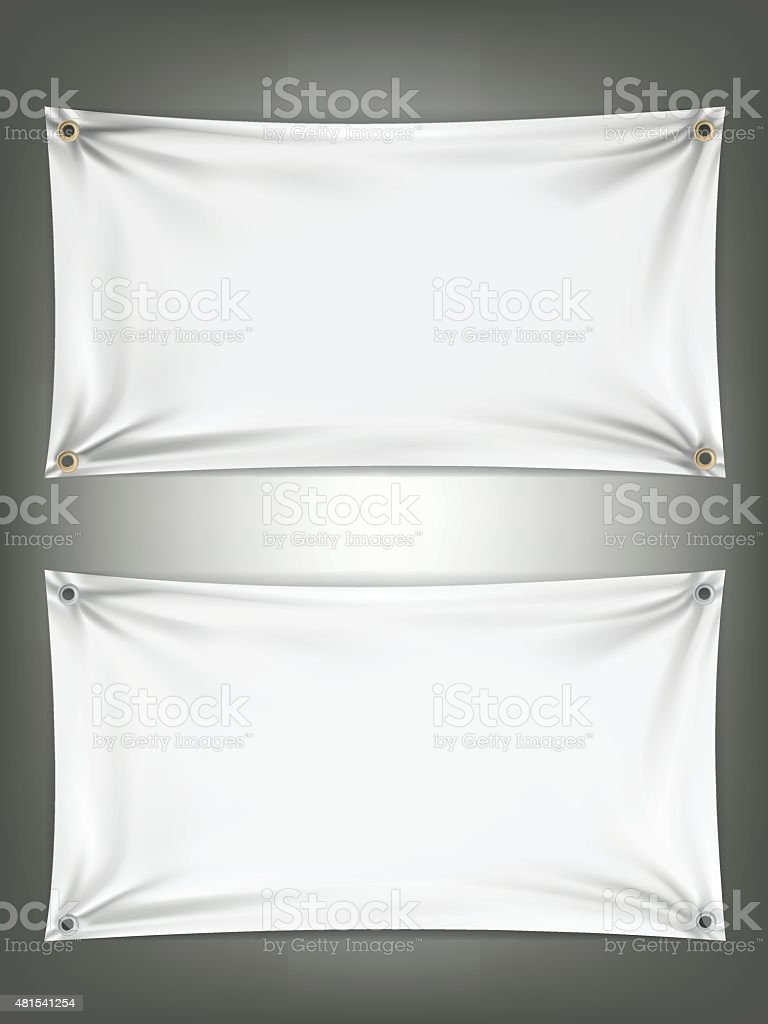 White wrinkle rectangle shape, Vector background object vector art illustration