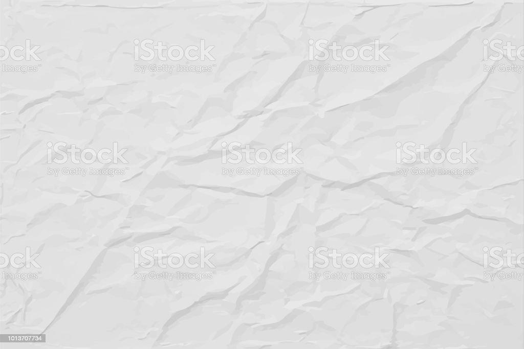 Blanca arrugada textura de papel, fondo abstracto vector luz ilustración de blanca arrugada textura de papel fondo abstracto vector luz y más vectores libres de derechos de abstracto libre de derechos
