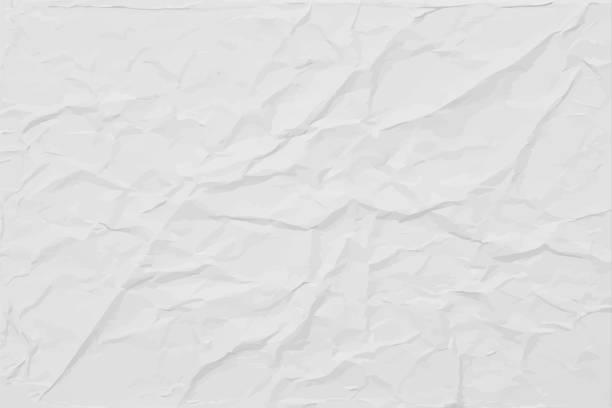화이트 주름 종이 질감, 추상 라이트 벡터 배경 - 주름 stock illustrations
