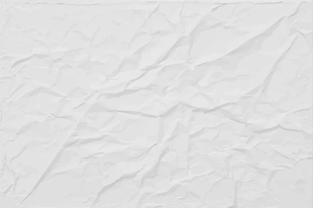 white wrinkled paper texture, abstract light vector background - paper texture stock illustrations