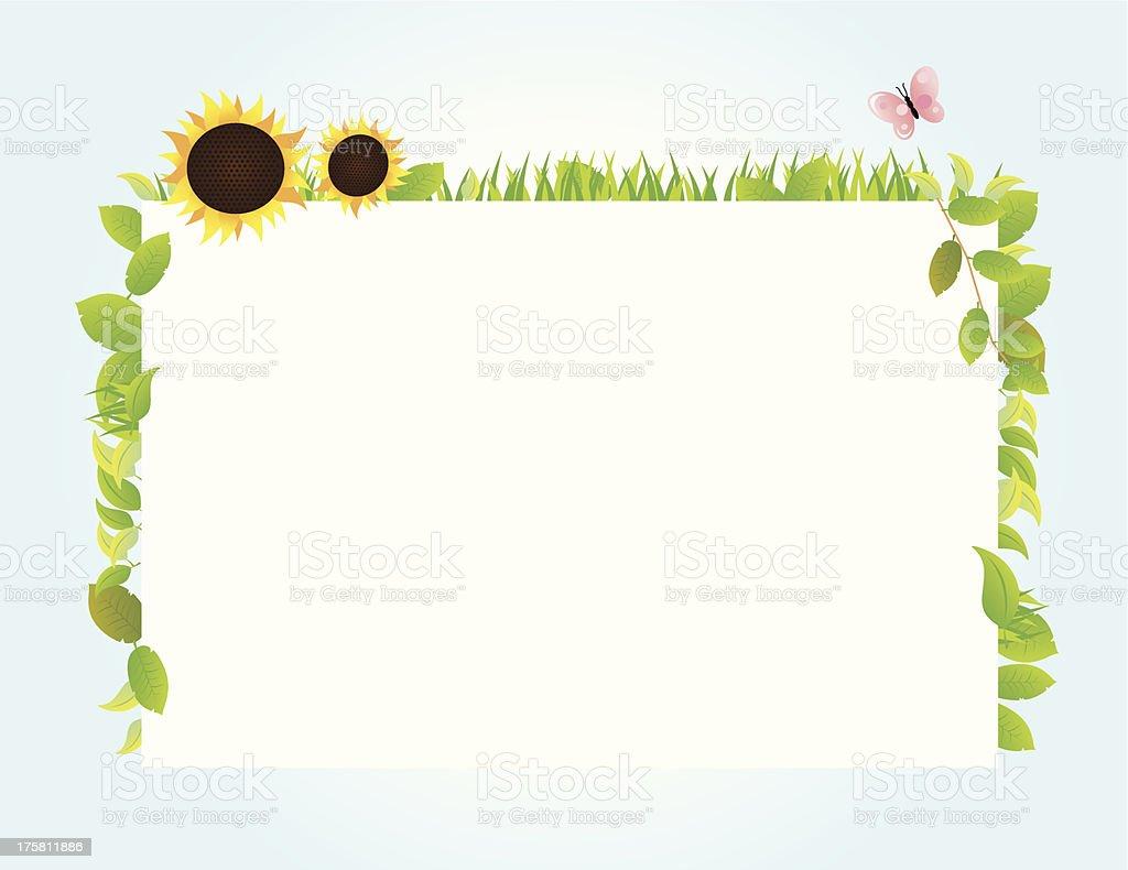 whiteboard summer Vector royalty-free stock vector art
