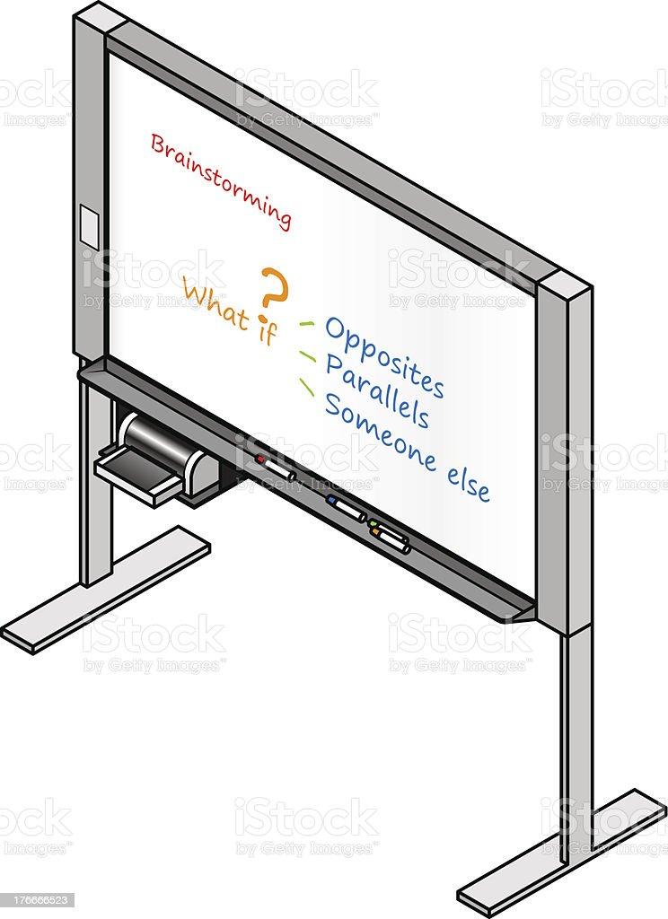 Whiteboard royalty-free whiteboard stock vector art & more images of blackboard