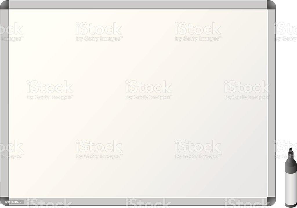 whiteboard Blank  pens royalty-free stock vector art
