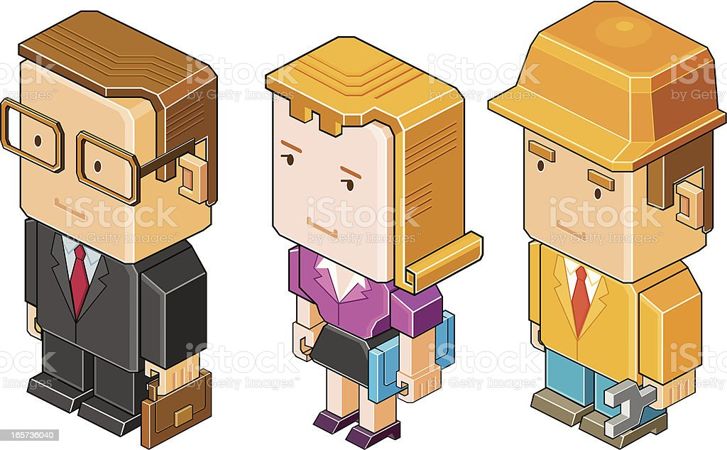 White-collar and blue collar royalty-free stock vector art