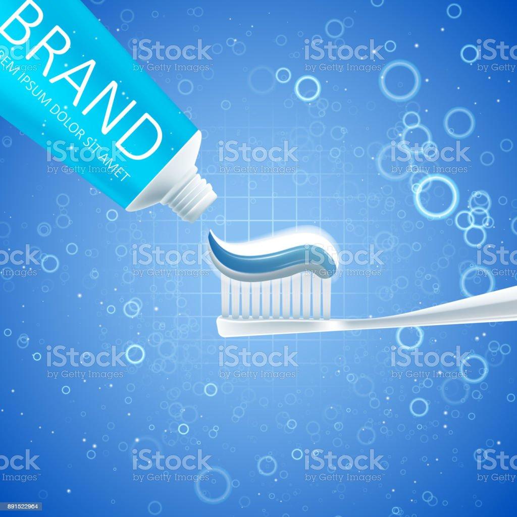 Ilustracao De Anuncios De Creme Dental Clareador E Mais Banco De