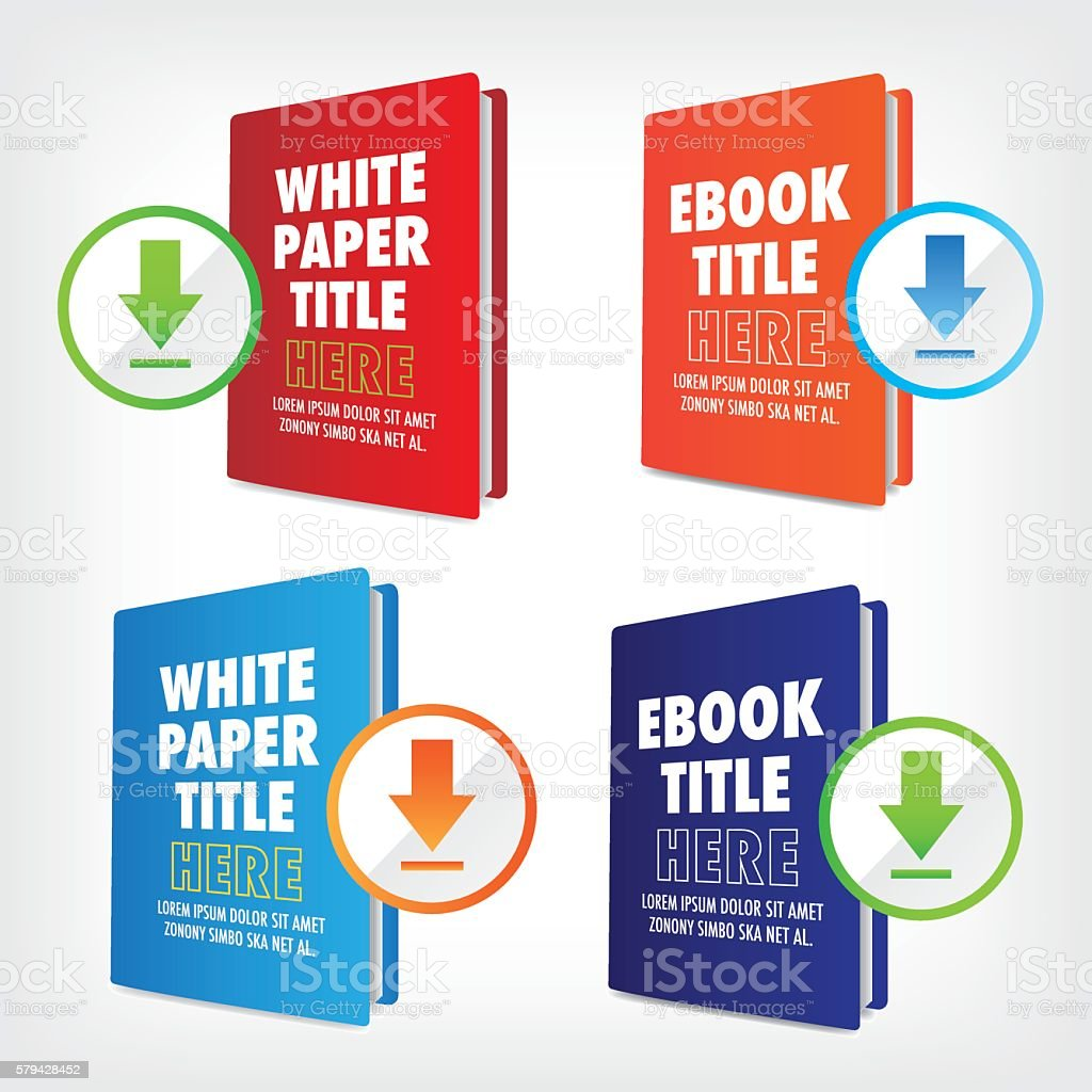 Whitepaper and Ebook Graphics - Vetor de Aprendendo royalty-free