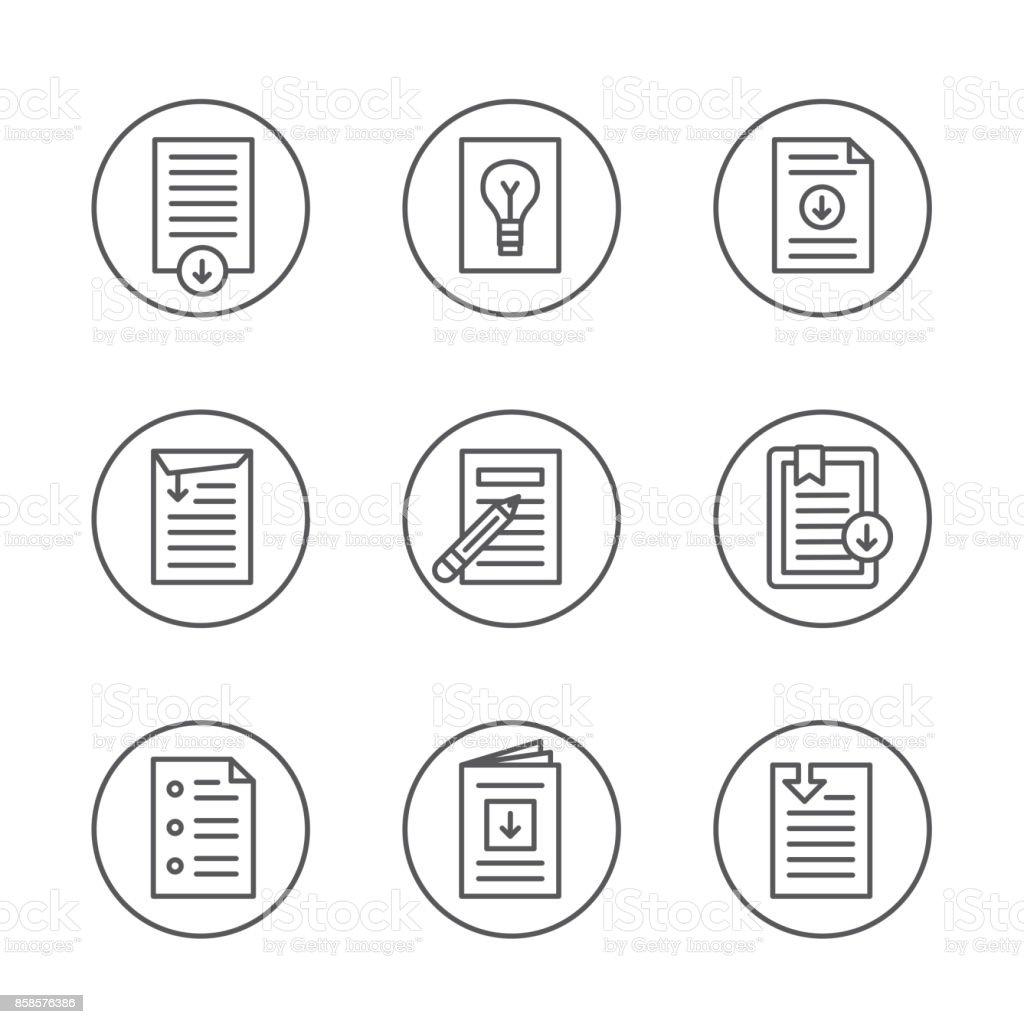Livre Blanc Telecharger Icone Bouton Set Vecteurs Libres De