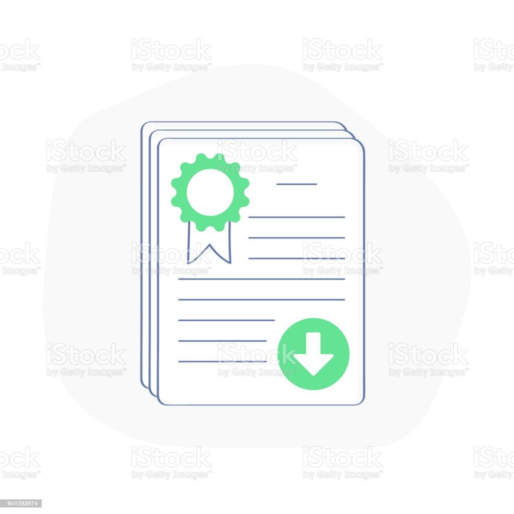 Icone De Livre Blanc Document Principal Investissement De