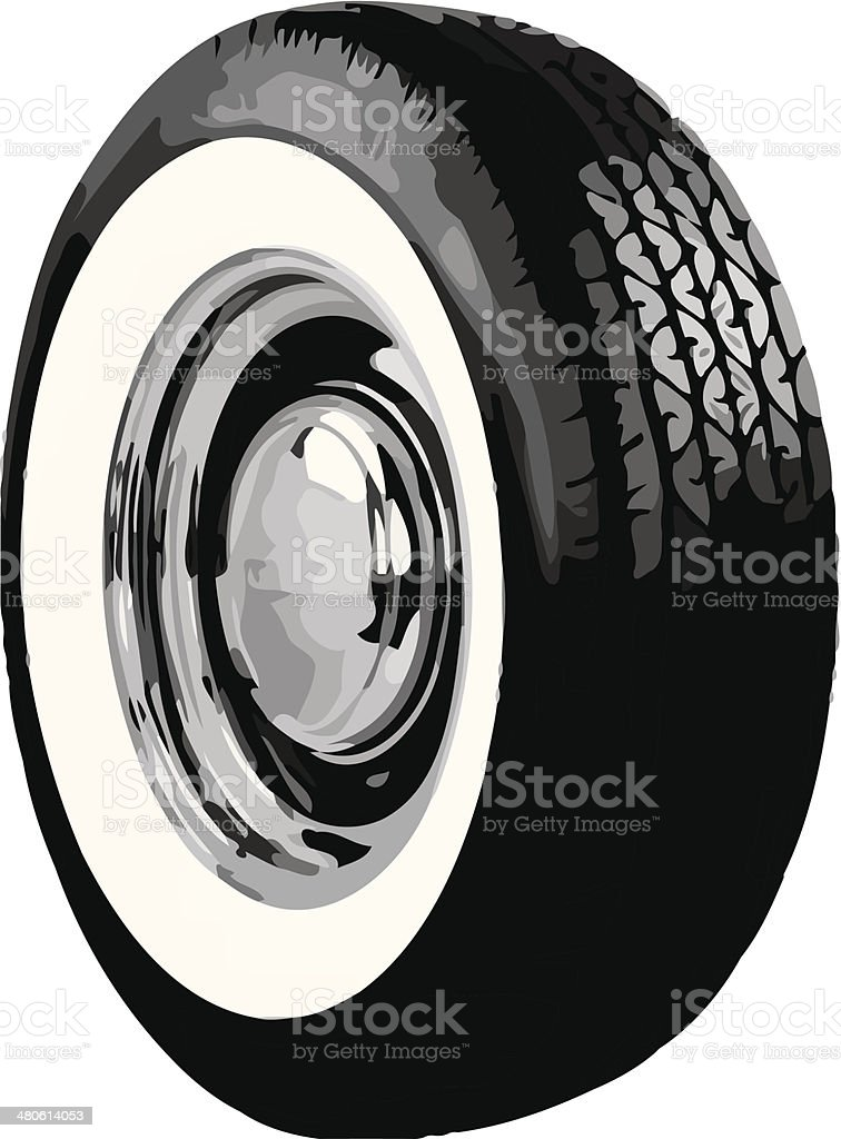 tires and wheels vector art whitewall tire vector art