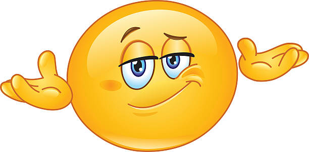 who cares emoticon - confused emoji stock illustrations, clip art, cartoons, & icons
