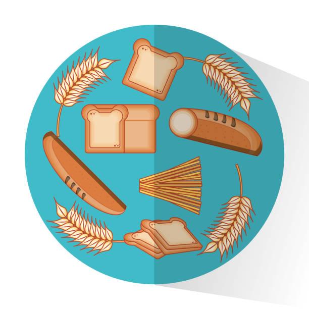 ganze körner produkte lebensmittel - spitzenkernstück stock-grafiken, -clipart, -cartoons und -symbole