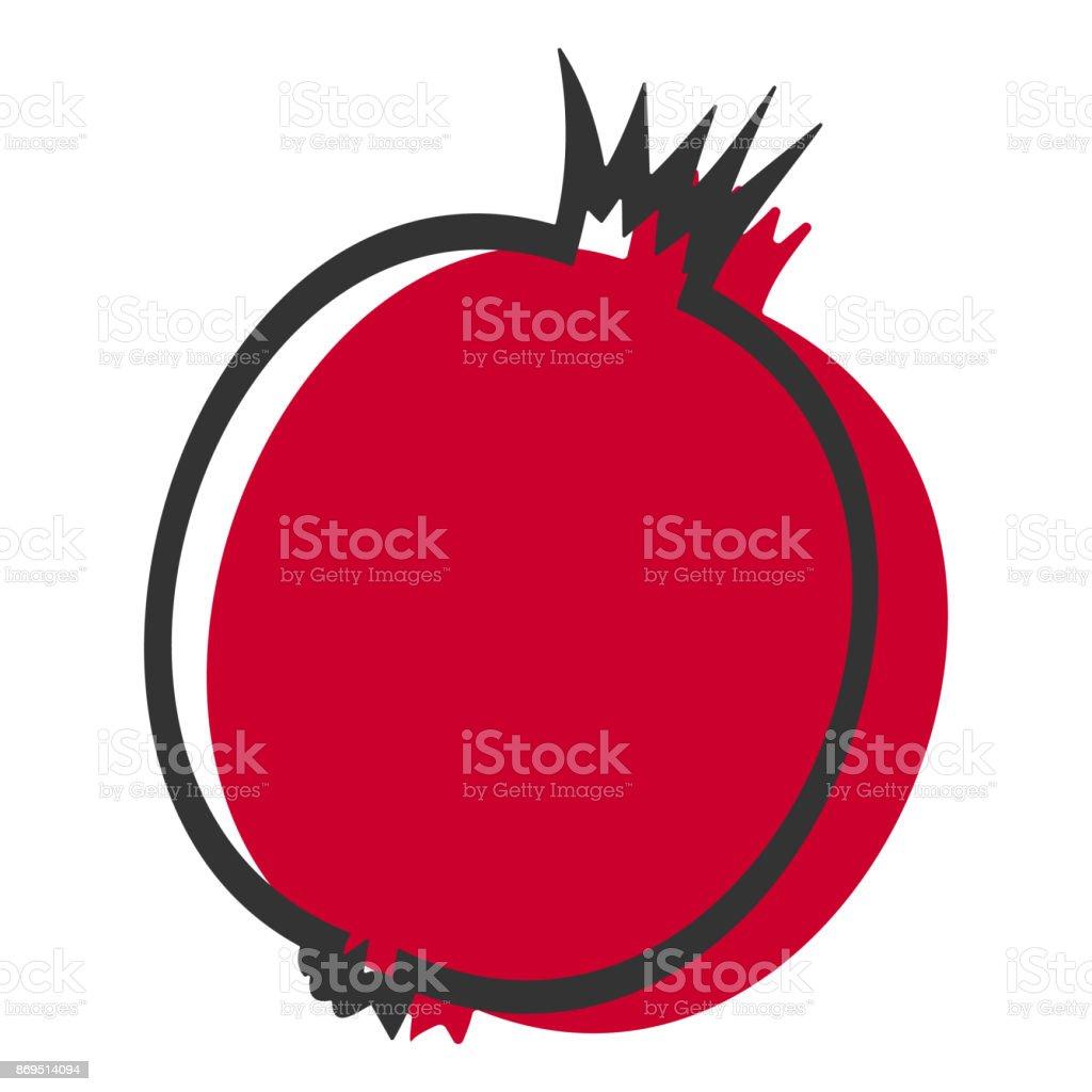 royalty free pomegranate seed clip art vector images rh istockphoto com clipart pomegranate juice pomegranate tree clipart