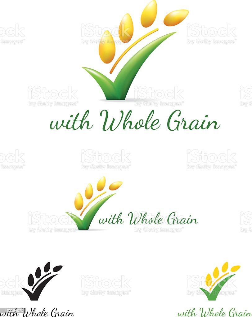Whole Wheat Check Mark Symbol royalty-free stock vector art