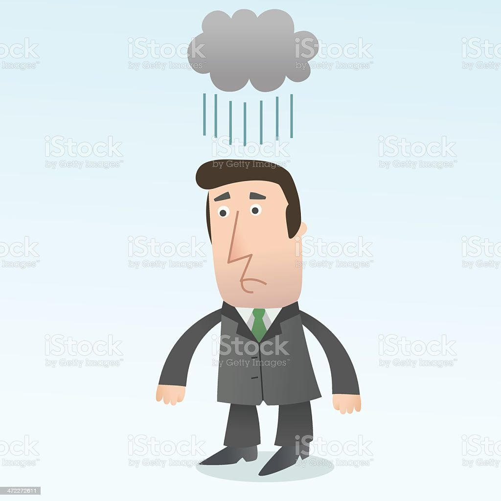 Why does it always rain on me? royalty-free why does it always rain on me stock vector art & more images of adult