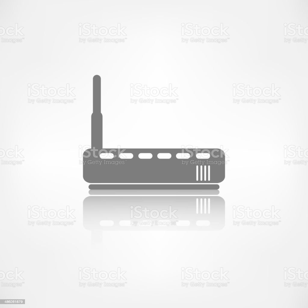 Wi fi router web icon vector art illustration