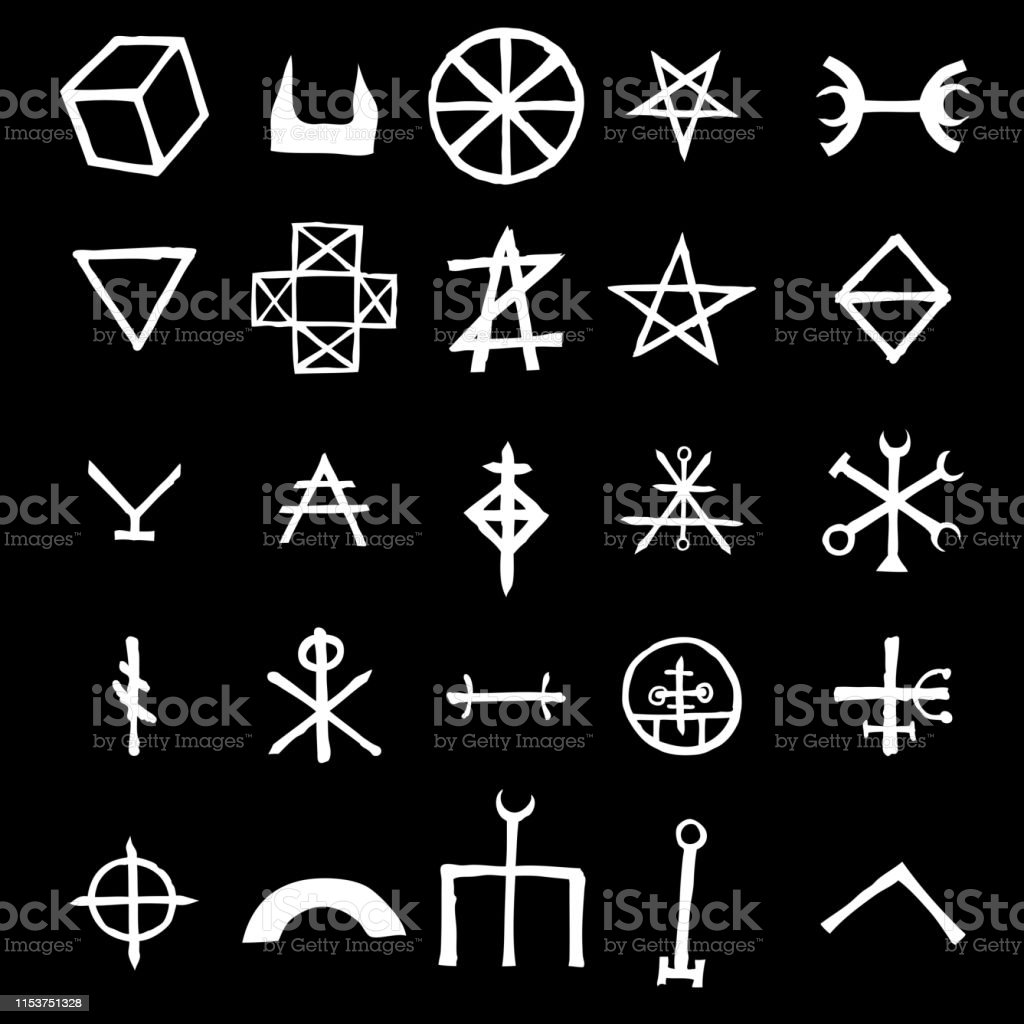 Wiccan Symbols Imaginary Cross Symbols Inspired By Antichrist